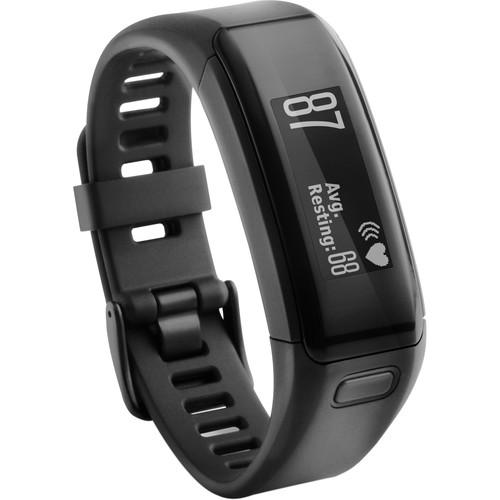 Garmin vivosmart HR Activity Tracker with Wrist-Based Heart Rate Monitor (Regular, Black)
