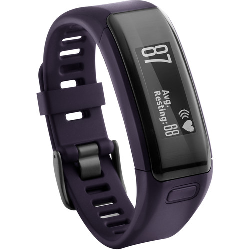 Garmin vivosmart HR Activity Tracker with Wrist-Based Heart Rate Monitor (Regular, Imperial Purple)