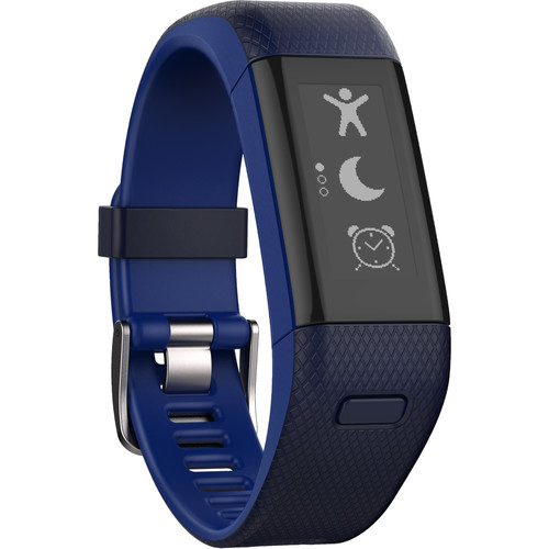 Garmin vivosmart HR+ Activity Tracker (Regular, Midnight Blue/Bolt Blue)