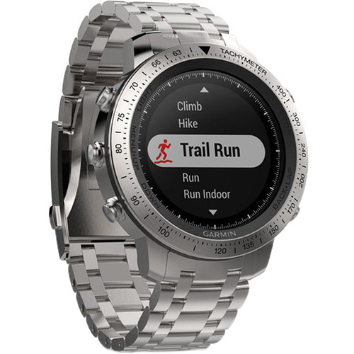 Garmin fenix Chronos Multi-Sport GPS Watch (Steel Case with Brushed Stainless Steel Band)