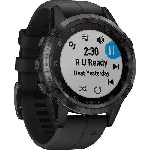 Garmin fenix 5 Plus Sapphire Edition Multi-Sport Training GPS Watch (47mm, Black with Black Band)