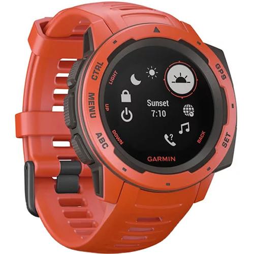 Garmin Instinct Outdoor GPS Watch (Flame Red)