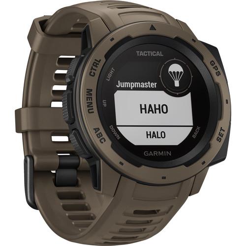 Garmin Instinct Outdoor GPS Watch (Coyote Tan, Tactical Edition)