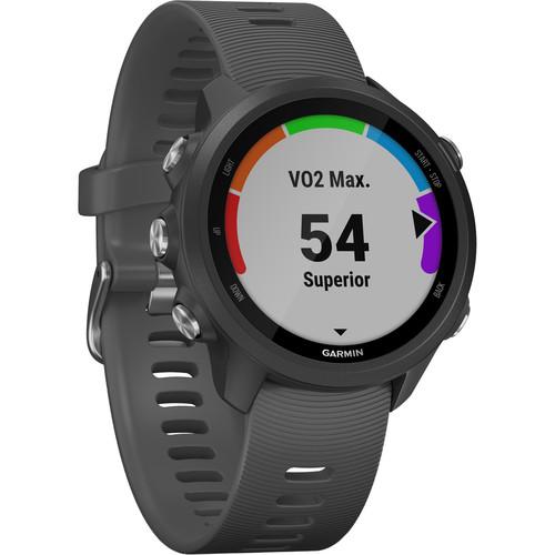 Garmin Forerunner 245 GPS Running Smartwatch (Slate Gray)