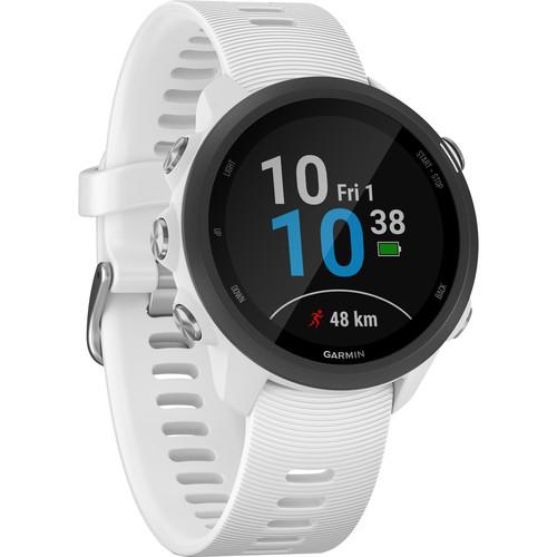 Garmin Forerunner 245 Music GPS Running Smartwatch (White)