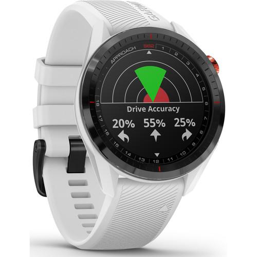 Garmin Approach S62 Sport GPS Golf Smartwatch (Black Bezel with White Band)