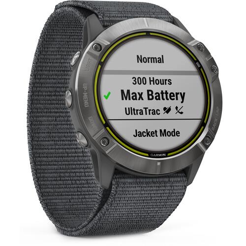 Garmin Enduro GPS Solar Smartwatch (Steel, Gray UltraFit Nylon Strap)