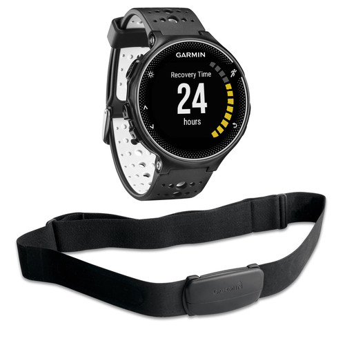 Garmin Forerunner 230 GPS Running Watch with HRM Bundle (Black and White)