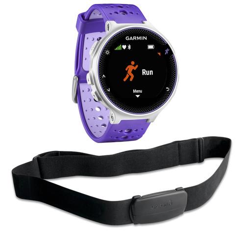 Garmin Forerunner 230 GPS Running Watch with HRM Bundle (Purple Strike)