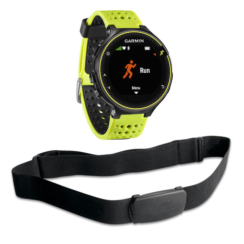 Garmin Forerunner 230 GPS Running Watch with HRM Bundle (Force Yellow)