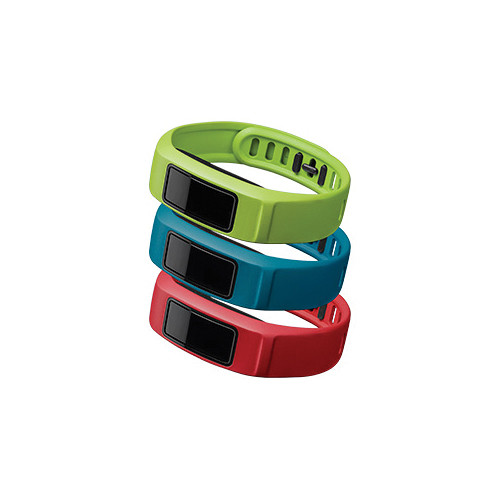 Garmin vivofit 2 Bands 3-Pack (Active, Red/Blue/Green, Large)