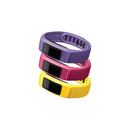 Garmin vivofit 2 Bands 3-Pack (Energy, Canary/Pink/Violet, Large)