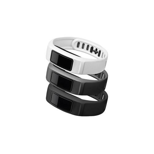 Garmin vivofit 2 Bands 3-Pack (Neutral, Black/Slate/White, Small)