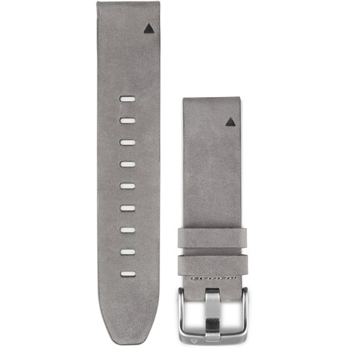 Garmin QuickFit 20 Leather Watch Band (Gray Suede)
