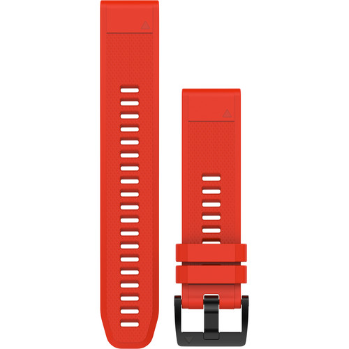 Garmin QuickFit 22 Silicone Watch Band (Flame Red)