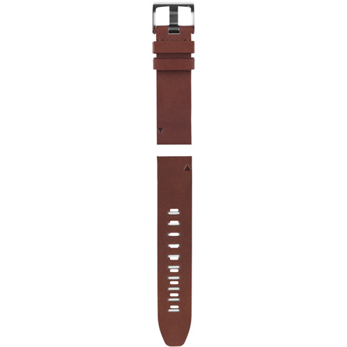Garmin QuickFit 22 Leather Watch Band (Brown)