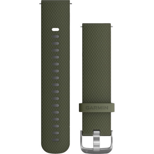Garmin Quick Release Band for Garmin vivoactive 3/vivomove HR (Universal, Moss Silicone Band with Stainless Hardware)