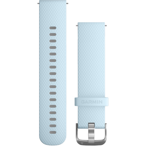 Garmin Quick Release Band for Garmin vivoactive 3/vivomove HR (Azure Silicone Band with Stainless Hardware)