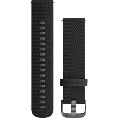Garmin Quick-Release Silicone Watch Band (20mm / Black / One Size)