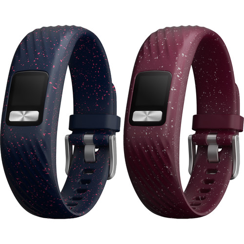 Garmin 2-Pack Accessory Bands for vivofit 4 (Small/Medium, Merlot and Navy Speckle)