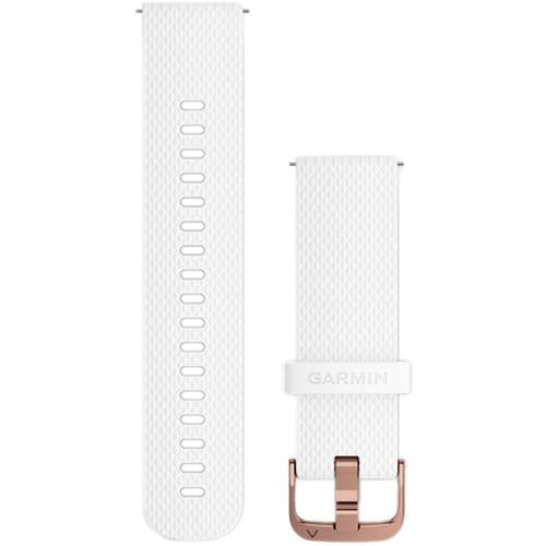 Garmin Quick-Release Silicone Watch Band (20mm / White / Small/Medium)