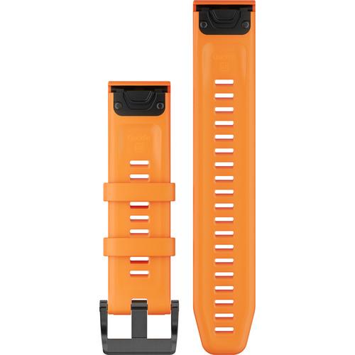 Garmin QuickFit 22 Silicone Watch Band (Solar Flare Orange)