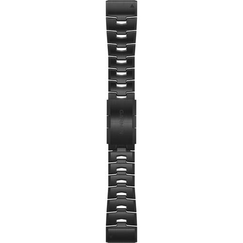 Garmin QuickFit 26 Vented Titanium Watch Band (Vented Titanium/Carbon Gray DLC Coating)