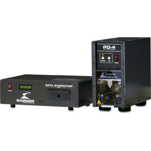 Garner HD-2 Hard Drive & Tape Degausser with PD-4 Physical Hard Drive Destroyer