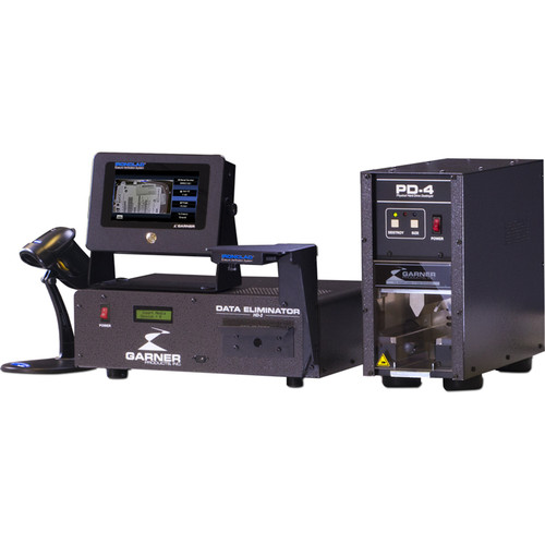 Garner HD-2 Hard Drive & Tape Degausser with IRONCLAD Erasure Verification System and PD-4 Physical Hard Drive