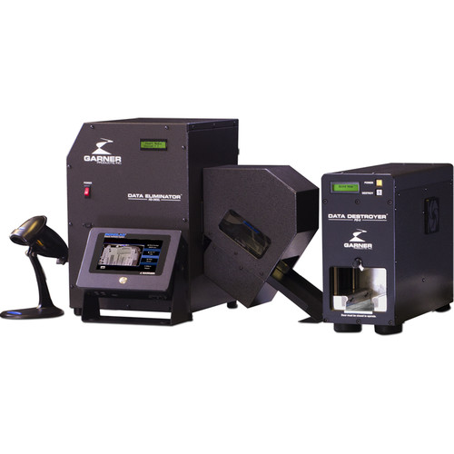 Garner HD-3WXL Hard Drive Degausser with IRONCLAD Erasure Verification System and PD-5 Hard Drive Destroyer