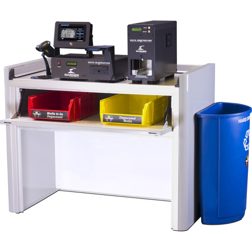 Garner PD-5 Multiple Hard Drive Destroyer Package with HD-2 IRONCLAD Hard Drive & Tape Degausser and Workstation