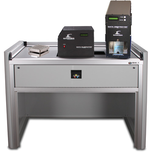 Garner PD-5 Multiple Hard Drive Destroyer Package with HD-3WXL Hard Drive Degausser and Workstation