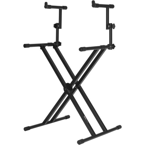 "Gator Cases Frameworks GFW-KEY-5100X - 2 Tier ""X"" Style Keyboard Stand"