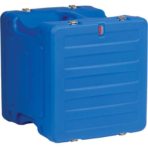 "Gator Cases 10U 19"" Deep Pro-Series Molded Mil-Grade Polyethylene Audio Rack Case (Blue)"