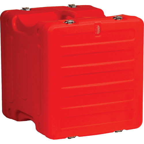 "Gator Cases 10U 19"" Deep Pro-Series Molded Mil-Grade Polyethylene Audio Rack Case (Red)"