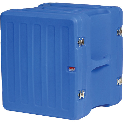 "Gator Cases 12U 19"" Deep Pro-Series Molded Mil-Grade Polyethylene Audio Rack Case (Blue)"