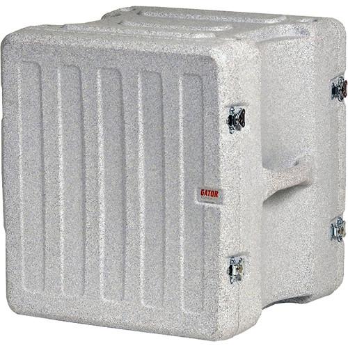 "Gator Cases 12U 19"" Deep Pro-Series Molded Mil-Grade Polyethylene Audio Rack Case (Gray Granite)"