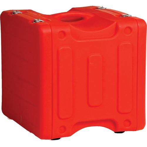 "Gator Cases 12U 19"" Deep Pro-Series Molded Mil-Grade Polyethylene Audio Rack Case (Red)"