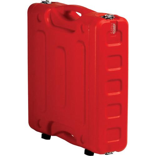 "Gator Cases 2U 19"" Deep Pro-Series Molded Mil-Grade Polyethylene Audio Rack Case (Red)"