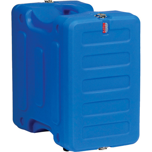 "Gator Cases 6U 19"" Deep Pro-Series Molded Mil-Grade Polyethylene Audio Rack Case (Blue)"