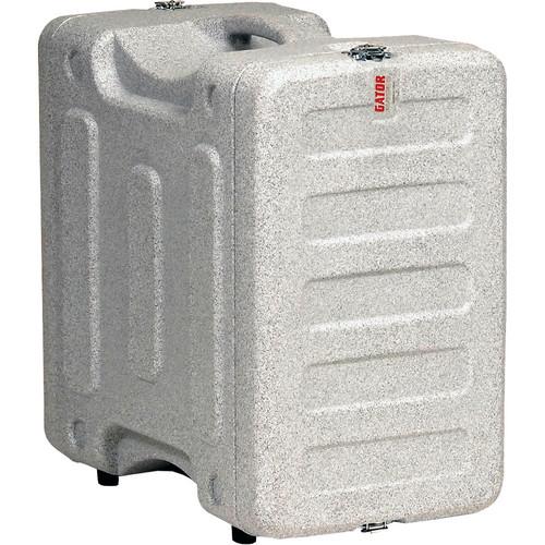 "Gator Cases 6U 19"" Deep Pro-Series Molded Mil-Grade Polyethylene Audio Rack Case (Gray Granite)"