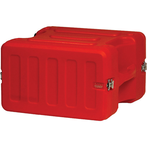 "Gator Cases 6U 19"" Deep Pro-Series Molded Mil-Grade Polyethylene Audio Rack Case (Red)"
