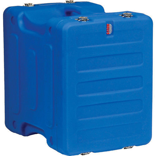 "Gator Cases 8U 19"" Deep Pro-Series Molded Mil-Grade Polyethylene Audio Rack Case (Blue)"