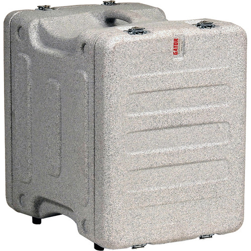"Gator Cases 8U 19"" Deep Pro-Series Molded Mil-Grade Polyethylene Audio Rack Case (Gray Granite)"