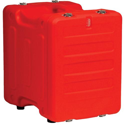 "Gator Cases 8U 19"" Deep Pro-Series Molded Mil-Grade Polyethylene Audio Rack Case (Red)"