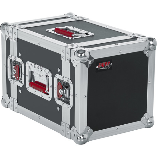 Gator Cases 6U G-Tour-Style ATA Wood Flight Half Rack Case (Black)