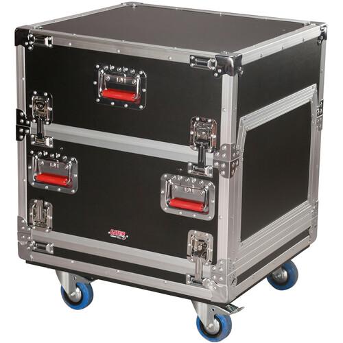Gator Cases 14U Top & 6U Bottom G-Tour ATA Console Wood Flight Rack Case