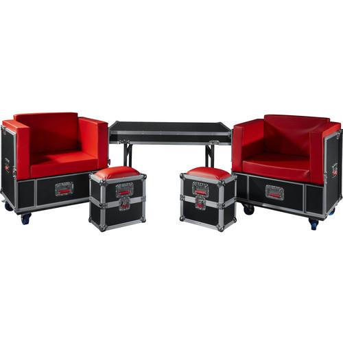 Gator Transformable Backstage Furniture Set into G-Tour Road Case
