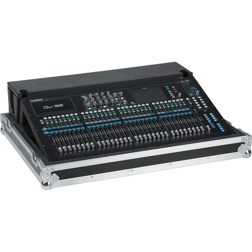 Gator Cases G-TOURQU32 ATA Wood Flight Case for Allen & Heath QU32 Mixing Console with Doghouse Design