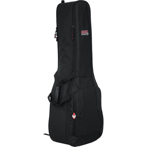 Gator Cases 4G Series Double Gig Bag with Backpack Straps for Acoustic & Electric Guitar